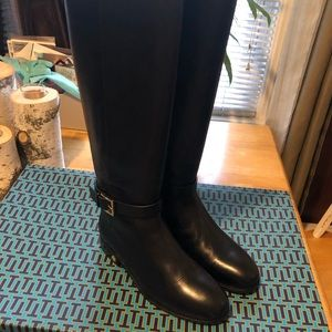 Tory Burch Brooke knee high leather riding boots